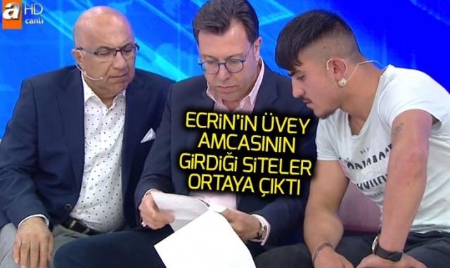 Müge Anlı canlı yayınında Ecrin Kurnaz'ın üvey amcası Özkan Kurnaz'ın incelenen telefonundan çıkanlar kan dondurdu..