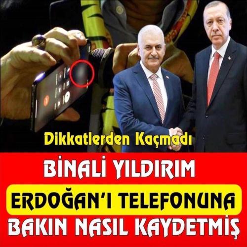 Binali Yıldırım, Erdoğan'ı telefon rehberine böyle kaydetmiş. Biraz ayıp etmiş sanırım. Ayrıntılar için resmin üzerine tklayarak ilerleyiniz.