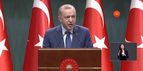 Son Dakika Haberi; Cumhurbaşkanı Erdoğan, 3,5 saat süren Kabine Toplantısı'ndan sonra alınan kararları açıkladı. İşte madde madde yeni koronavirüs tedbirleri.