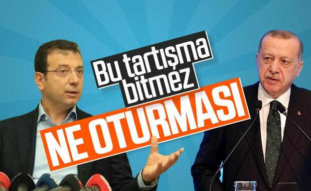 """İmamoğlu'ndan Erdoğan'ın """"Otur işine bak"""" sözlerine yanıt geldi"""