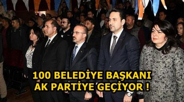 100 Belediye başkanı Akp'ye katılıyor.Ankara Kulislerini Sallayan Haber.