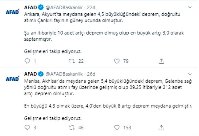 AFAD'dan Dikkat Çeken Açıklama… Ankara'da Deprem Oldu…