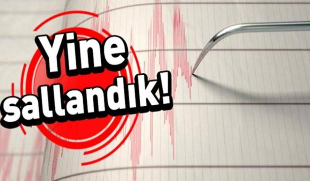Son Dakika.. Yine Sallandık, Deprem Oldu! İşte şiddeti ve merkez üssü…