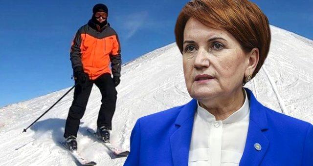 Akşener'den İmamoğlu'nun kayak tatiline ilk