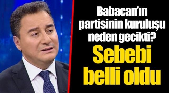 Babacan'ın partisinin kuruluşu neden gecikti belli oldu.AKP'den istifa eden Eski Başbakan Yardımcısı Ali Babacan'ın kuracağı yeni partinin 'neden geciktiği' sorusu yanıt buldu.