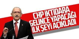 Kılıçdaroğlu, CHP iktidara gelince yapacağı ilk şeyi açıkladı.Ayrıntılar haberimizin detayındadır.