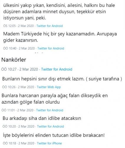 Edirne Pazarkule'de Yunanistan'a geçmek için bekleyen Suriyeli gençlerin sözleri sosyal medyada tepki çekti.