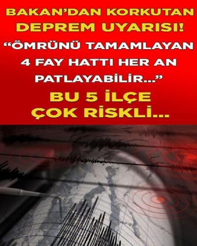 Çevre ve Şehircilik Bakanı İstanbul depremiyle ile ilgili olarak çarpıcı açıklamalar yaptı.Ayrıntılar haberimizin detayındadır.