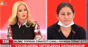Müge Anlı programından son dakika gelişmesi: Alime Toprak kocası Ali Toprak'ı öldürdüğünü canlı yayında itiraf etti!