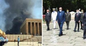 Erdoğan'ın Anıtkabir Ziyareti Sırasında Korkutan Görüntüler